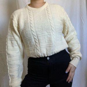 Vintage cream knit sweater